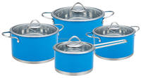 Popular stainless steel high temperature colored painting cookware pot and pan