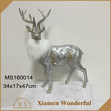 Xmas decoration eco-friendly resin deer figurine