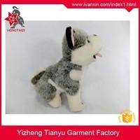Realstic made tiny husky Realstic made tiny husky stuffed grey and white dog floppy kids plush dog plush toys