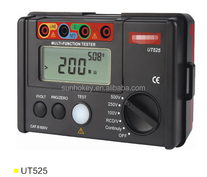 UT525 Electrical Insulation Tester Earth Resistance Meter