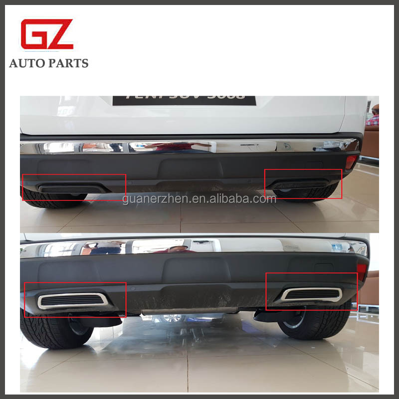 Rear exhaust accessories chrome plated board for 2017 new peugeot 3008