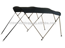 Universal 4 bow aluminum bimini top for inflatable boat