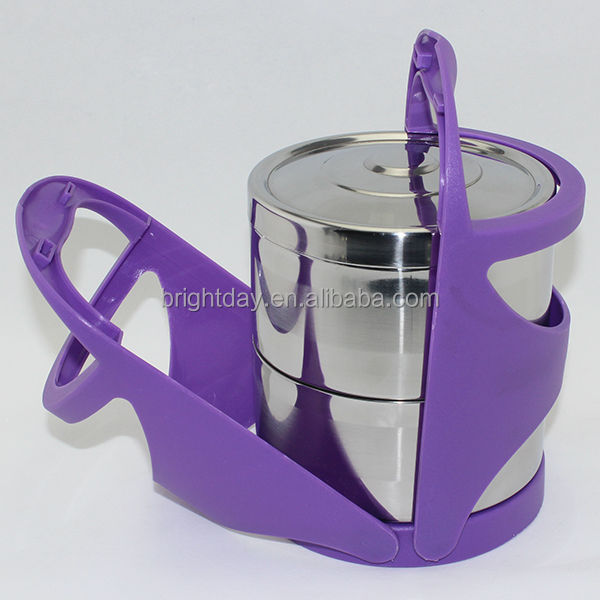 Four layer free combination stainless steel lunch box tiffin carrier
