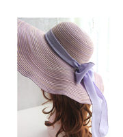 Fashion folding mexico straw sombrero hat for ladies summer hats/caps