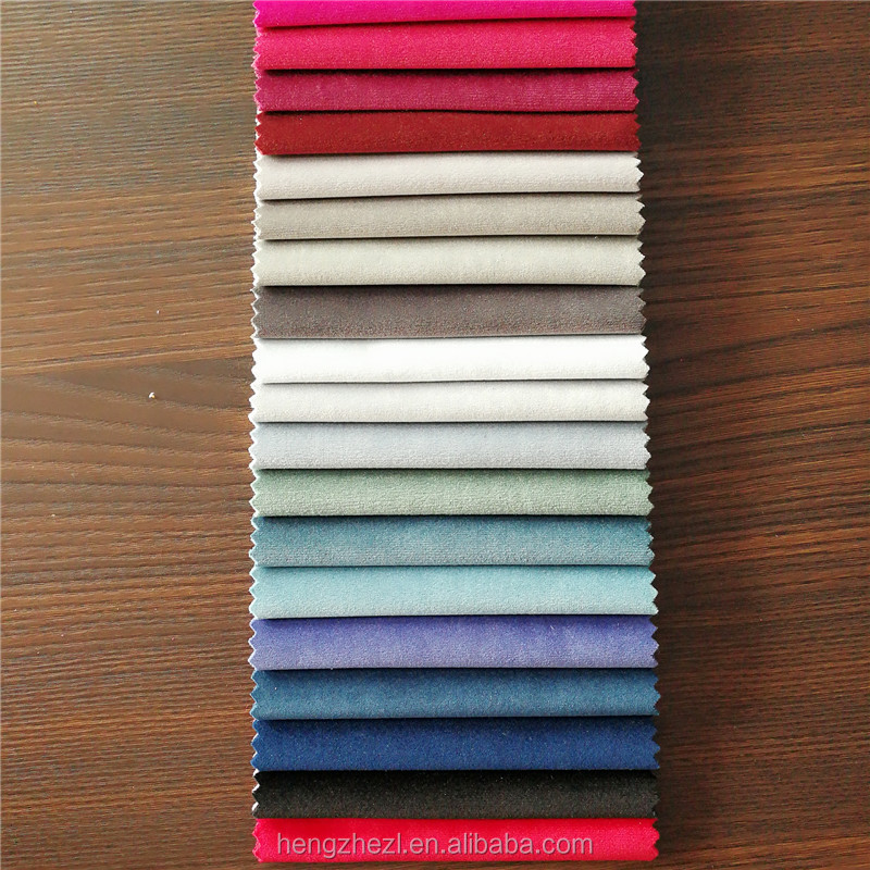 Top quality solid silk velvet fabric super hollandais fabric HZ17023 for hometextile
