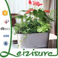 windowsill combination ABS design light color pots indoor or outdoor decoration ceramic plastic self-watering system flowerpots