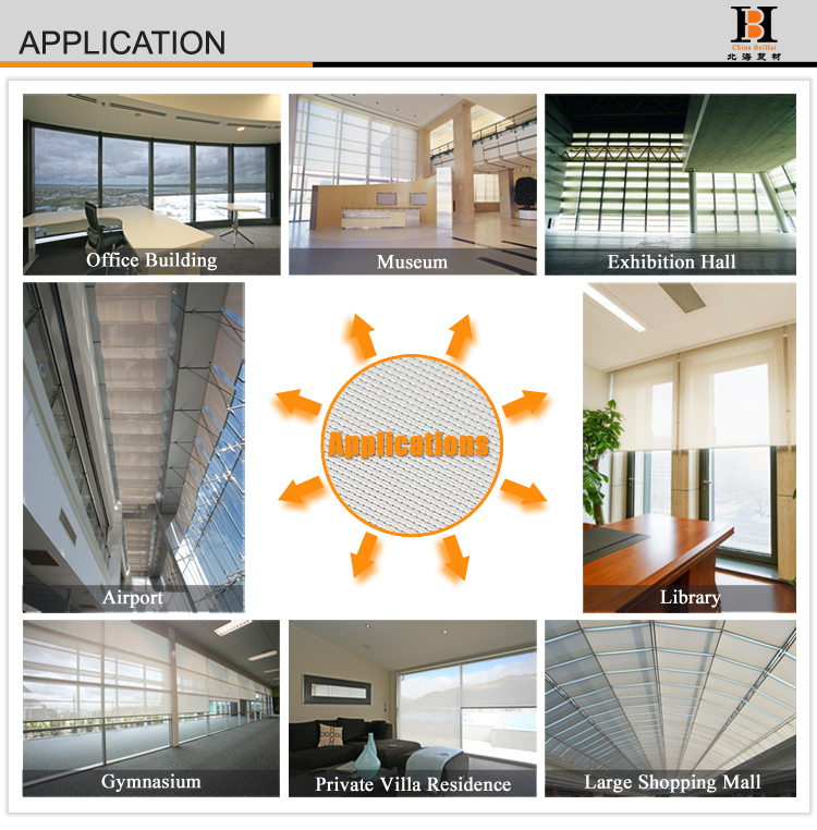 9F5400 5% Polyester Solar Screens For Business Building