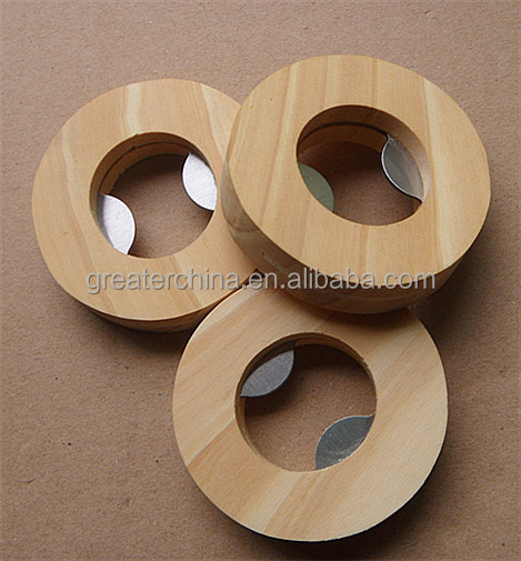 wood bottle opener /circle bottle opener/eco friendly bottle opener