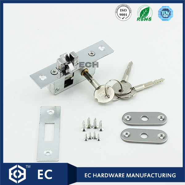 small zinc alloy sliding door lock