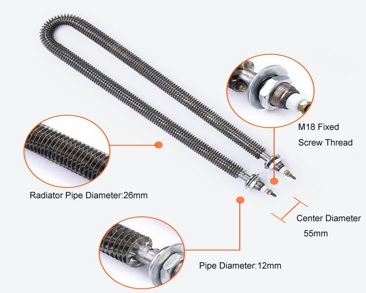 Thermocouple Heating Element : V w ce approval finned water heater element with