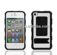 Fashion cheap silicon case for iphone 4 case,Shockproof Rugged Plastic And Rubber Gel Hard Hybrid Case Cover For iPhone 4 4S
