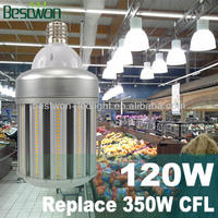 Enclosed Fixture Usable 360Degrees UL LED Warehouse Light/Bulb E40120W:External&Internal Driver,5Years Warranty