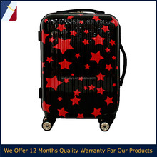 2016 carry-on red star PC ABS children travel trolley luggage set