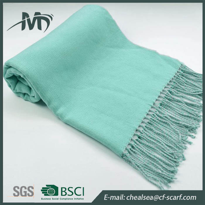 women winter blanket scarf double side oblong plain pashmina shawl