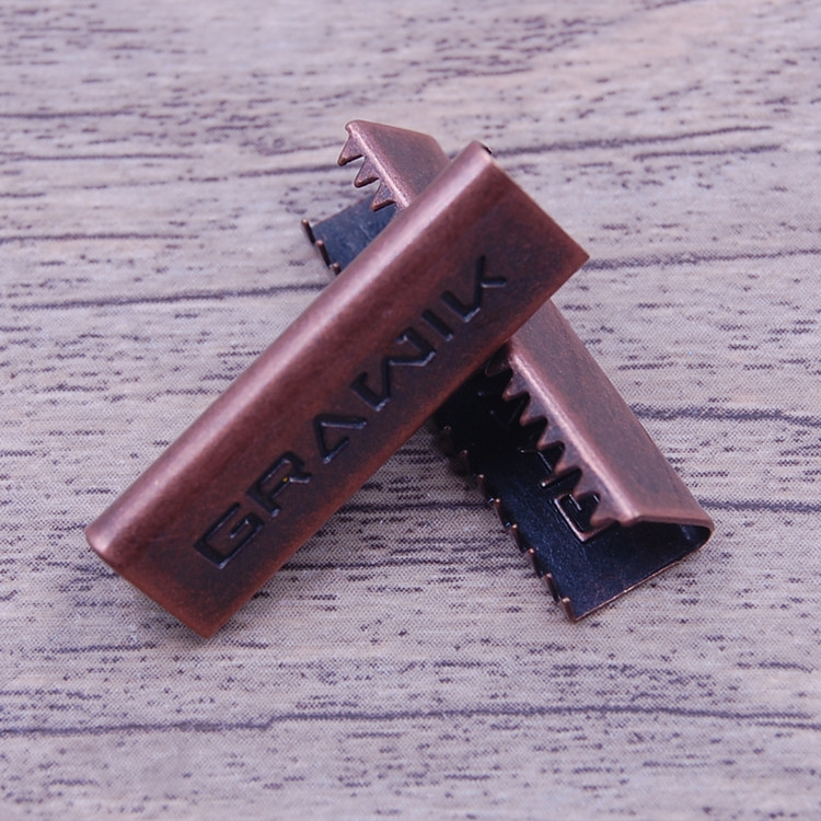 antique copper jeans clips, U shape metal clips for garment, brass material