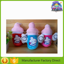 Perfect new superior feeding bottle shape with different colors soft plush gift toy doll