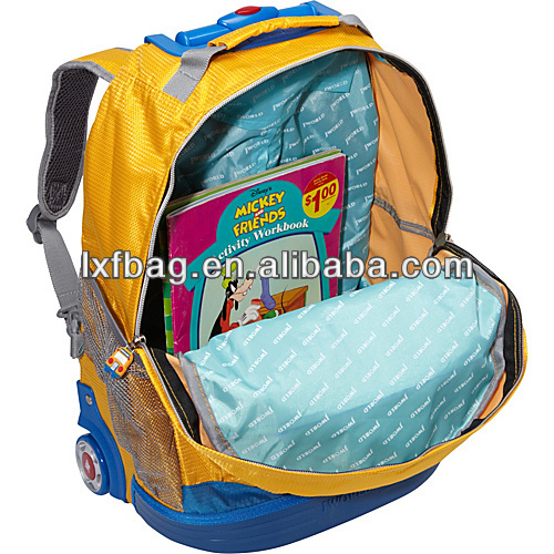 2013 trendy korean kids school bag with wheels