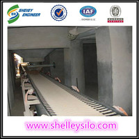 Mobile rubber belt conveyor for rice silo