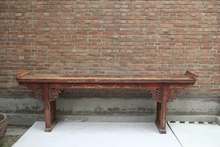 chinese antique alter table wood carved made console table