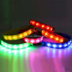 CE Fashion Nylon LED Luminous Dog Collars