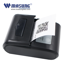 QR CODE printed mini bluetooth thermal printer connect with PC or mobile phone from manufacture
