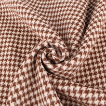 Houndstooth factory top dye synthetic tweed wool fabric
