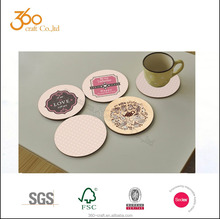 set of 6 Round cork coaster sets & Round Trivets