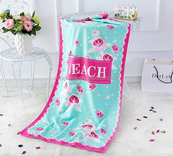 Printed multi-purpose beach cleaning microfiber beach towel