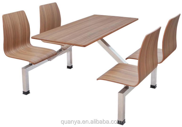 School canteen table and chair/Fast food restaurant table and chair