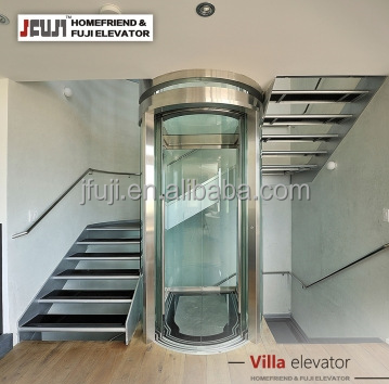 630KG 8 passenger small building elevator shaft | shaft elevator with glass elevator cabin