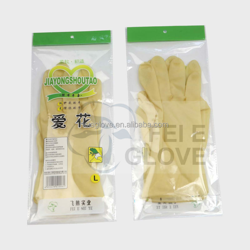 CE 28g L natural colour length 23cm white-colour high quality household goods cleaning glove <strong>manufacturer</strong>