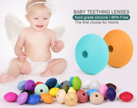 Food Grade Silicone Teething Beads Wholesale Lentil beads / FDA Baby Chew Beads