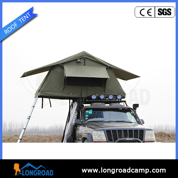 Small folding campers on the car for family camping