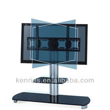 tempered Glass lcd tv stand/outdoor tv stand/modern glass shelves