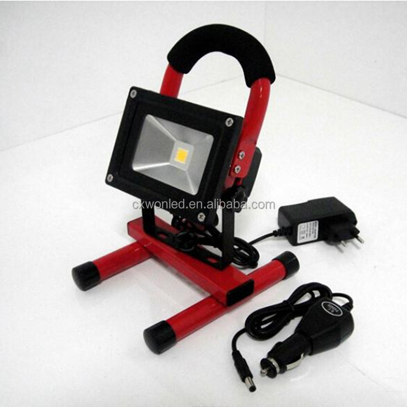 Factory Price Lighting 8h Portable 10w Rechargeable Led Flood ...