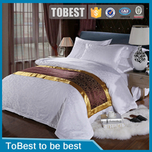 Tobest 100% Coton White Jacquard / Embriodery 5 Star Luxury Hotel Linen pillow duvet