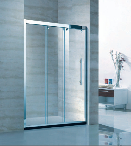 Clean Glass Opaque Glass Shower Glass Floding shower cubicle prices (KD4201)