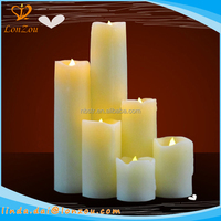 led grave candle flameless paraffin wax battery LED cemetery Candle