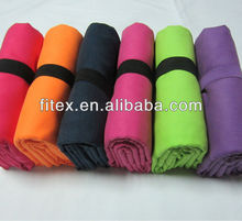 towels microfibra suede with rubber band fabric/textiles