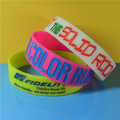 Funny Style 3/4 Inch Color Filled Silicone Bracelets