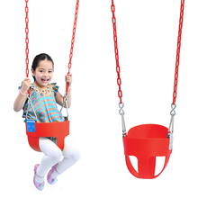 factory selling park outdoor infant baby toddler full bucket swing set