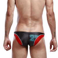 Instyles walson Fashion Sexy Men's week Mesh Low-Rise U convex Bikini brief Underwear candy color