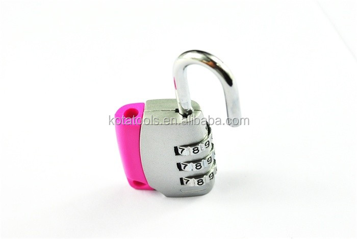 Metal 3 Digit Combination Travel Luggage Suitcase Padlock Combination Digital TSA Luggage Lock