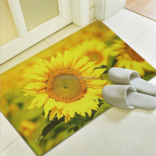 Rubber Backed Floor Mats 3D Printed Sculptured Rugs And Carpets Hot Sale Footmat Rubber Bath Toilet Mat