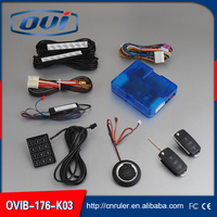 Professional Factory of Manual One Way Car Alarm System with Remote Start/PKE system