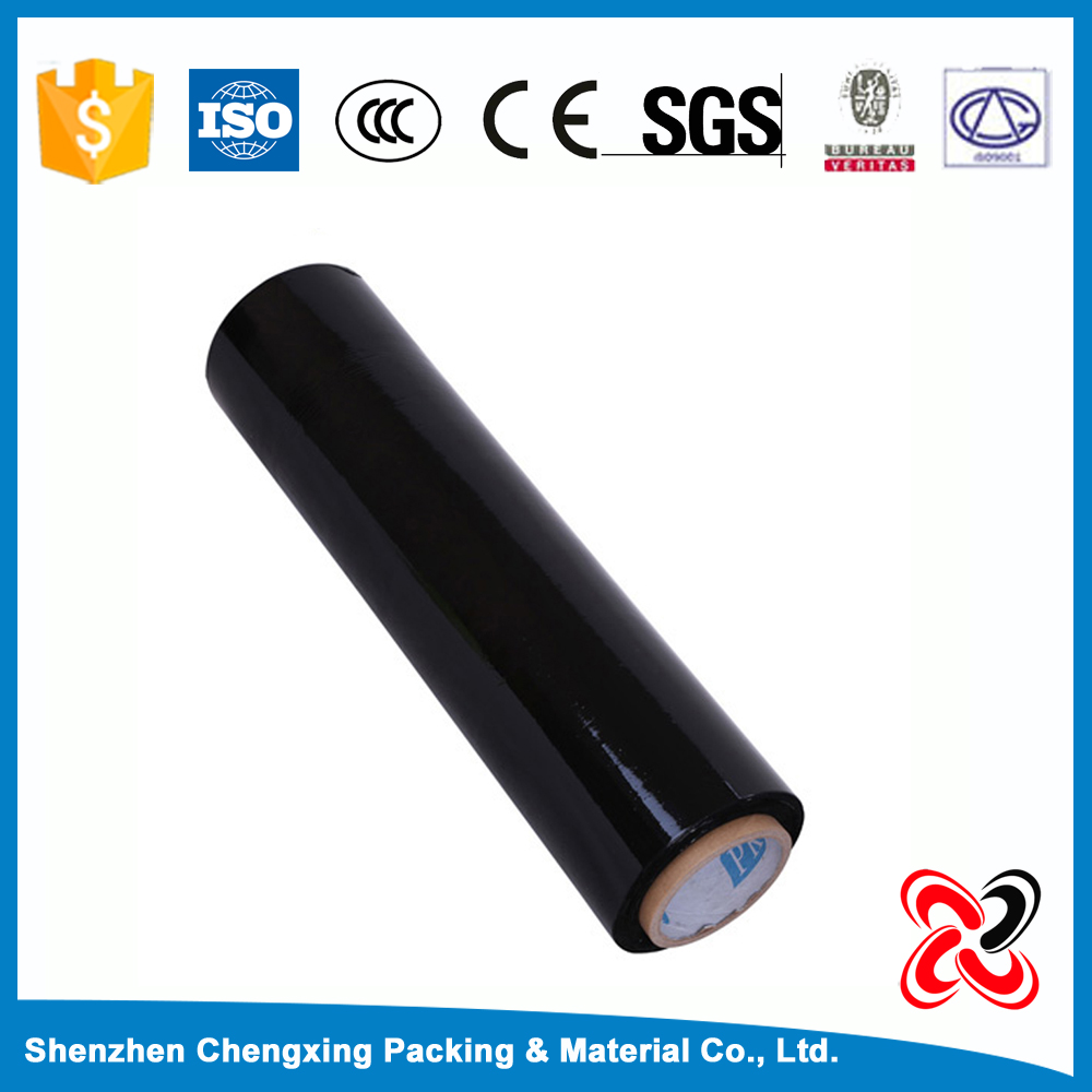 100 microns black transparent strech film