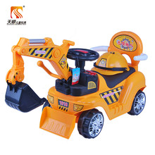 Children car toys factory plastic ride on kids excavator car for sale