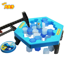 Hot sale family educational toys funny penguin Trap Ice Breaking Family Desktop ludo board Game