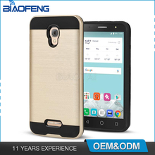 US market trending mobile phone accessories shockproof brush armor hybrid case for alcatel a30 phone covers