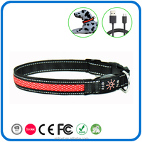 Pet Accessory Fashioned Flashing Remarkable Security Led Dog Collars Wholesale